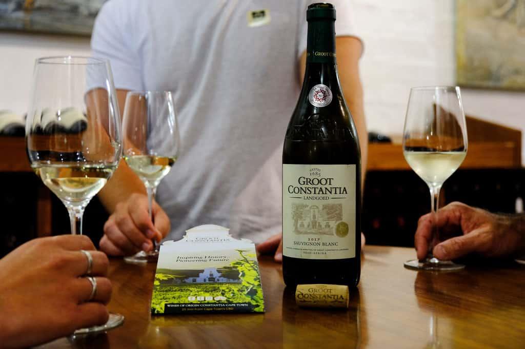 Groot Constantia wine tasting