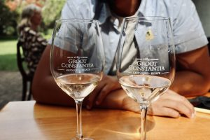 Unpacking a wine tasting at Groot Constantia